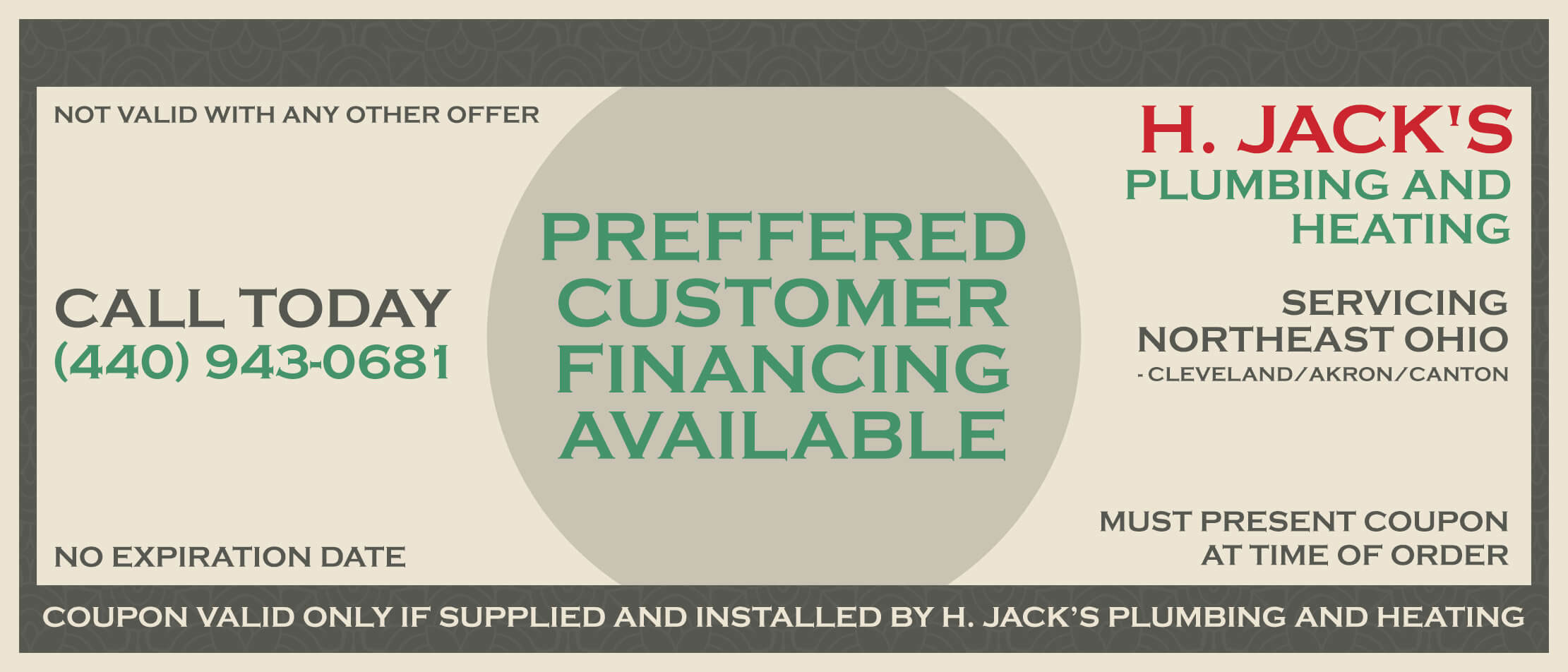 Preffered Customer Financing Available